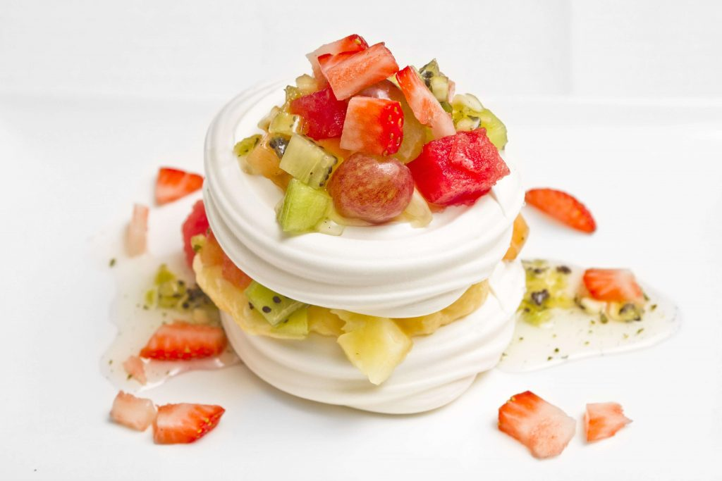 indian mojito and lemon cream pavlova