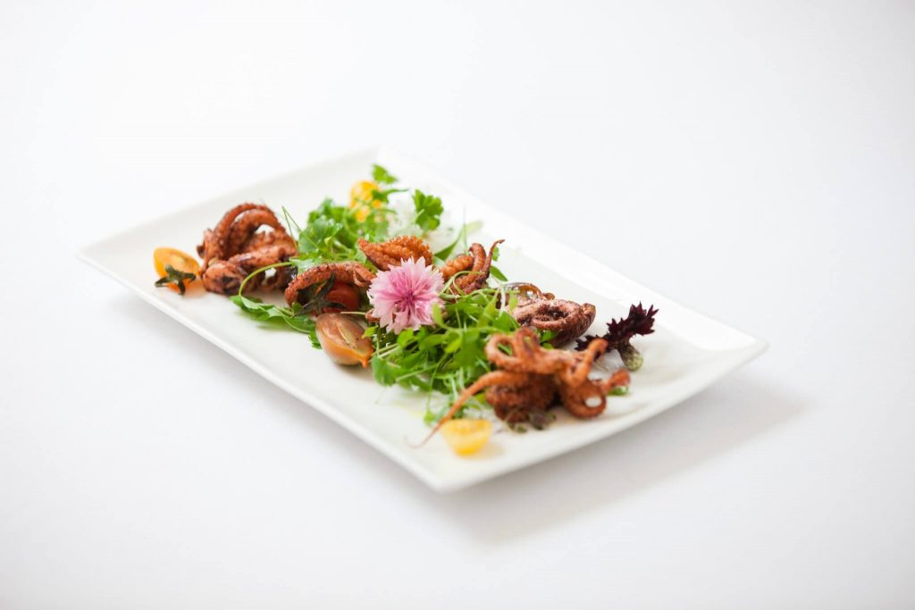 tandoor grilled octopus salad